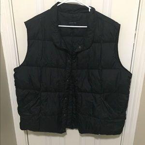 Men's Navy Blue Down Vest XL Lands End Packable